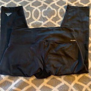Adidas climalite mid rise black leggings szM
